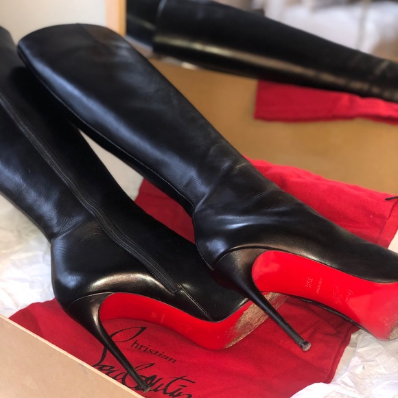 33d834c55b Christian Louboutin Shoes | Knee High Fifi Botta 100 | Poshmark